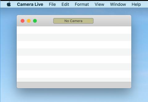 カメラライブアプリを起動した直後の画像