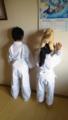 子供達と合気道の稽古に行ってきました(^_-)