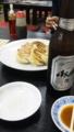 王将で餃子にビール(^_-)