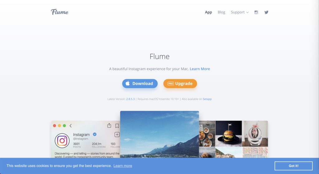 Flumeトップページ