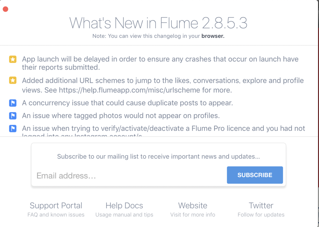 Flumeのsubscribe画面