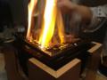 燃えた焼き肉