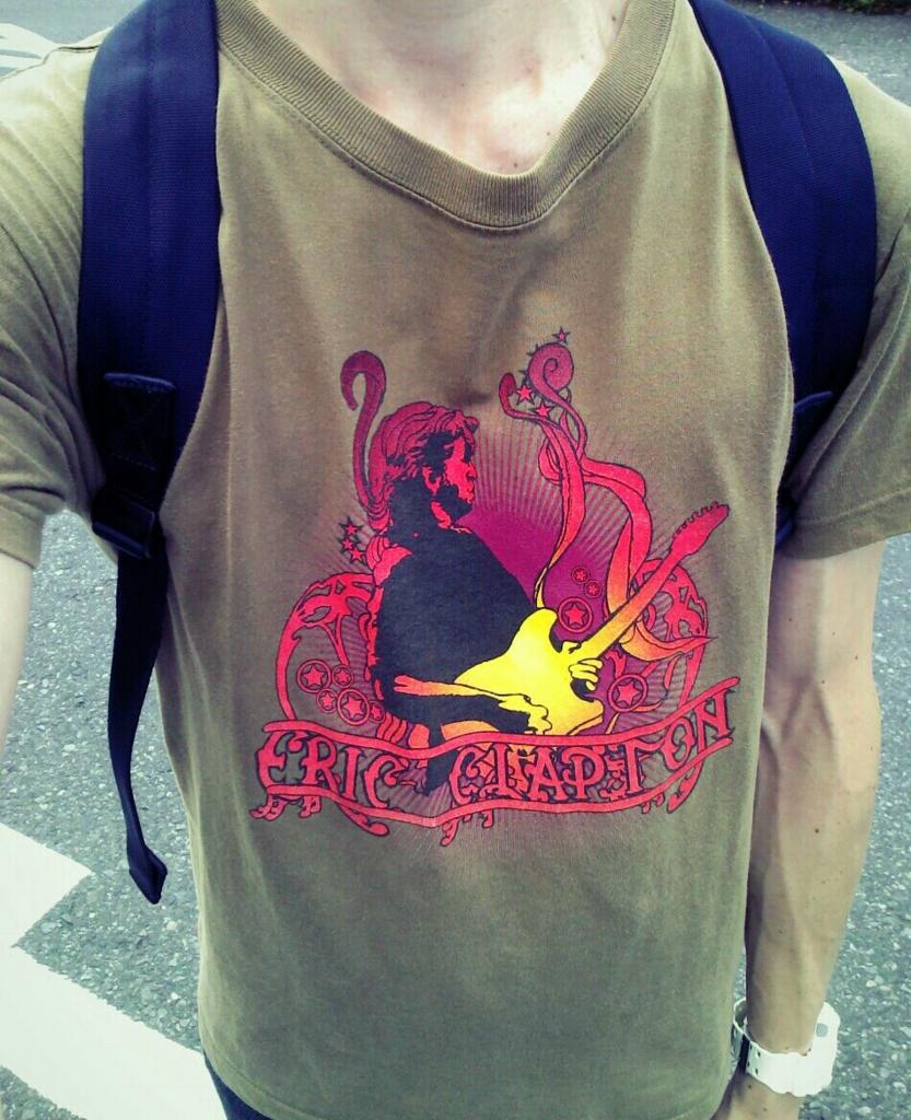 エリック・クラプトンのTシャツ