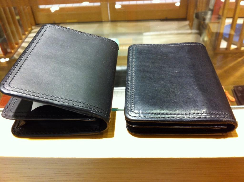 コルボのスレート財布の経年変化