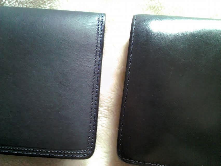 コルボと無印の財布の比較