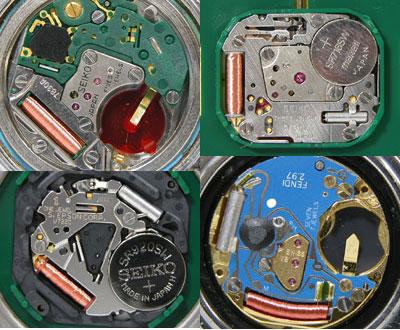 クォーツ時計の基盤