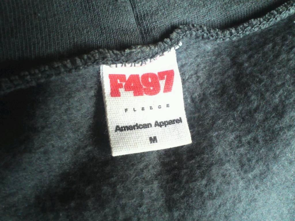 american apparel ジップパーカ