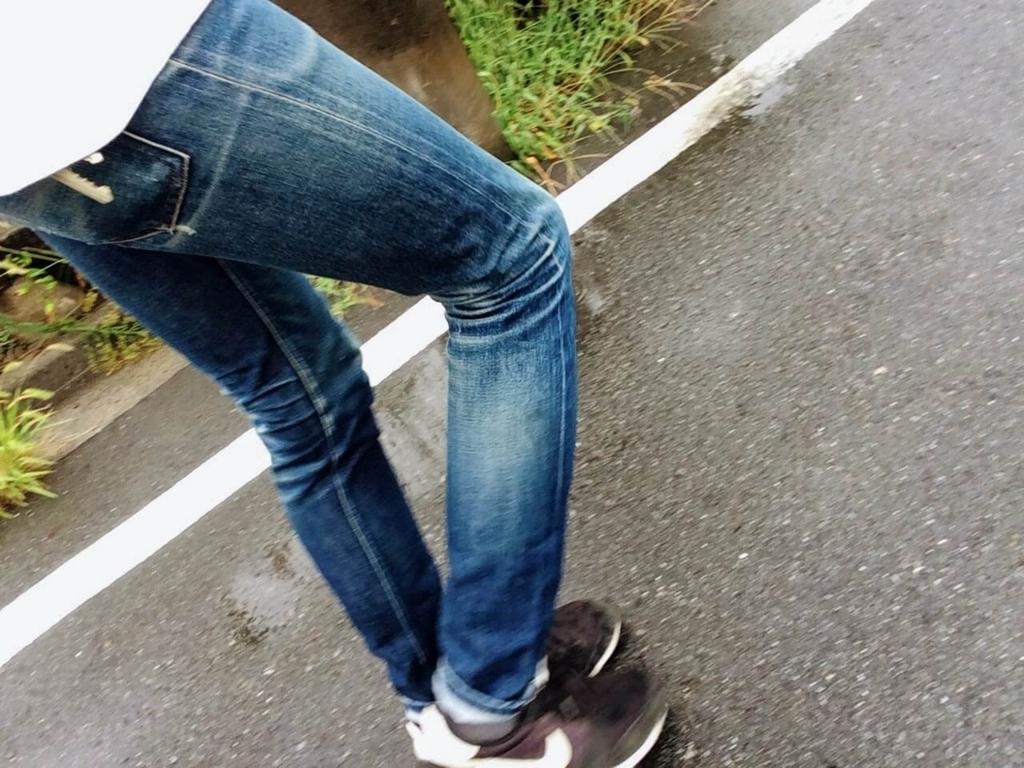 雨の日に穿くAPCプチニュースタンダード