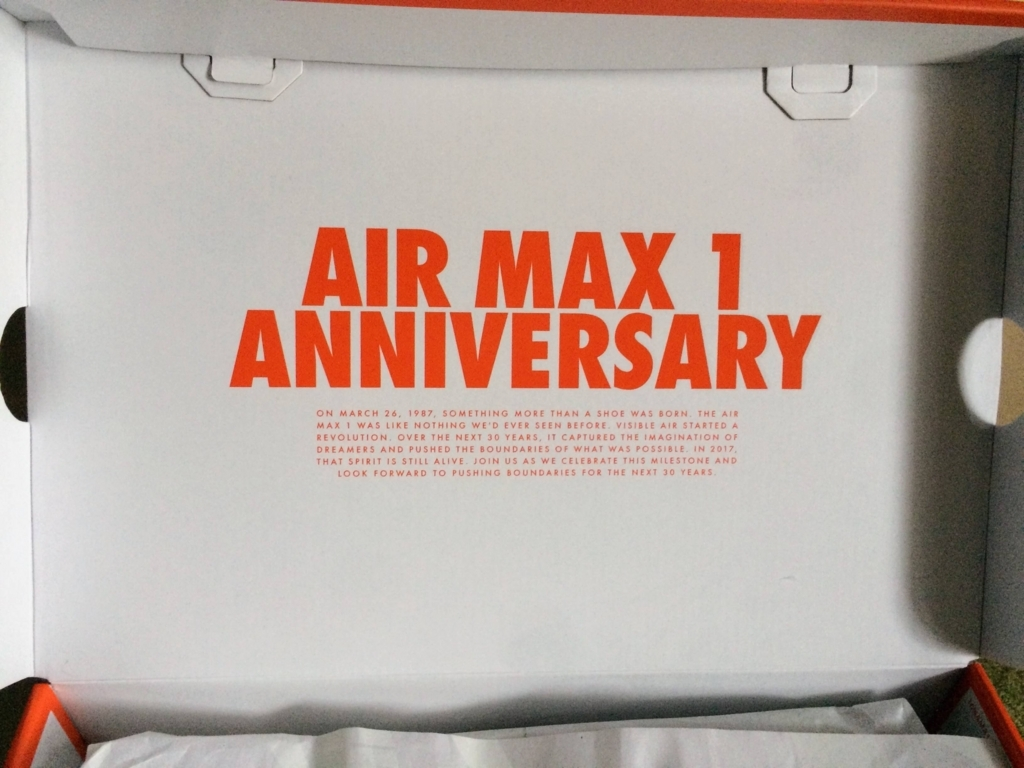 エアマックス1アニバーサリーの箱