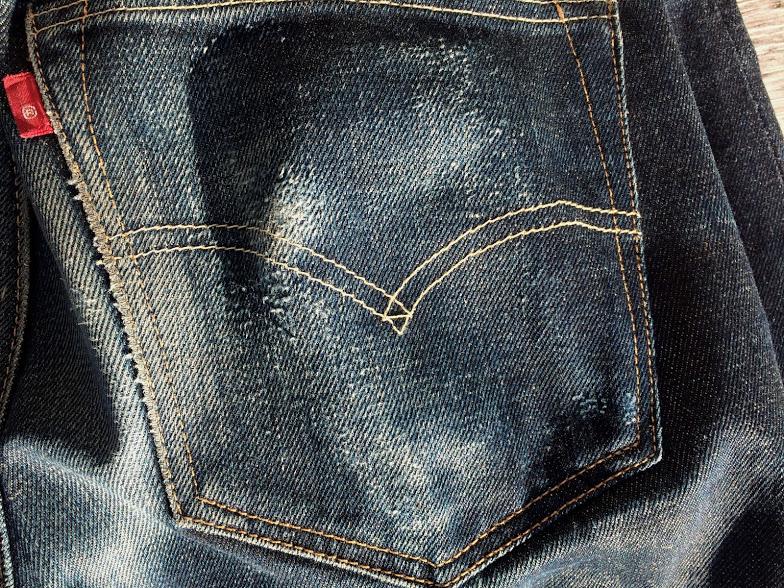 1年穿いた501CTの色落ちバックポケット