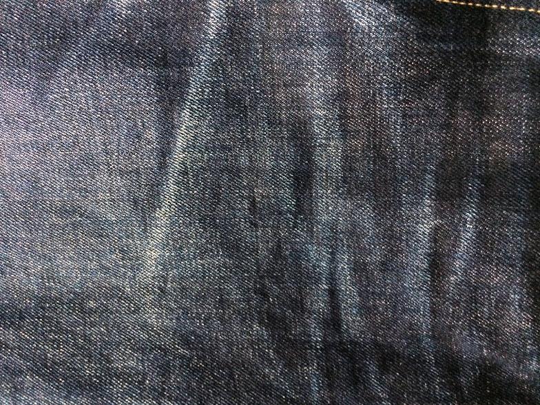 3回洗ったリーバイス501CTのコーンデニム生地