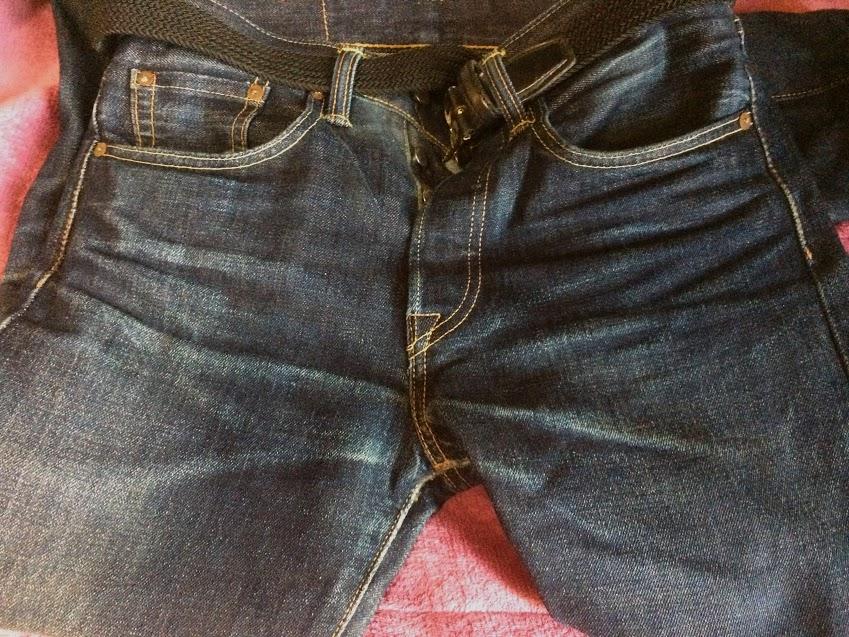 1年1か月穿いた501CTの色落ちイメージ