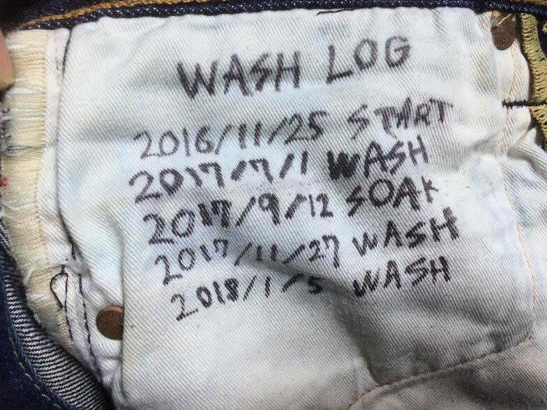 ジーンズのスレーキの洗濯記録