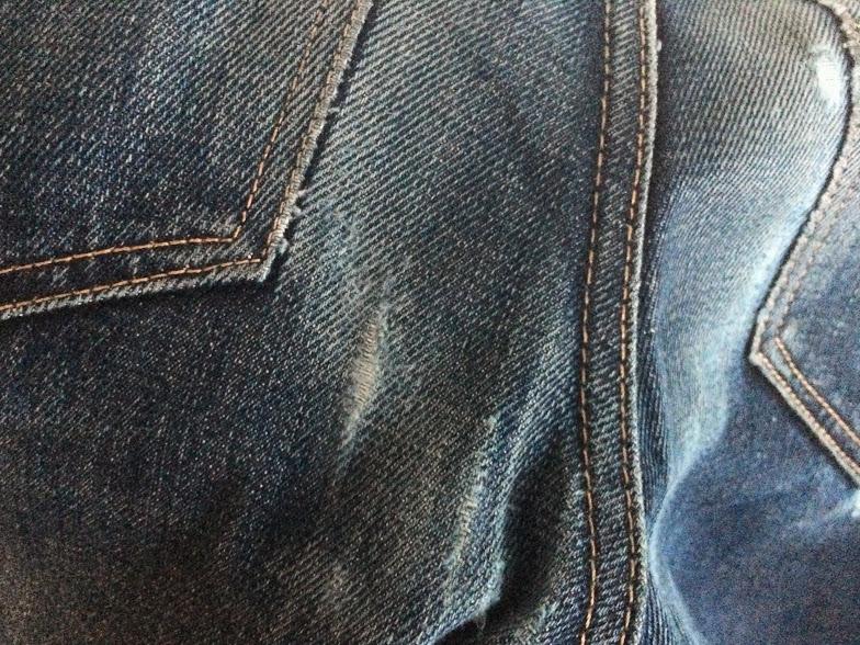 14ヶ月穿いたコーンデニム501CTのダメージ