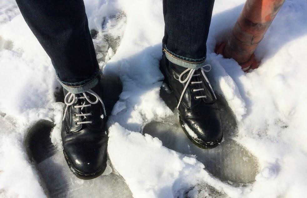 雪と501CTとドクターマーチン