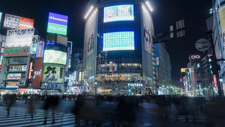 長時間露光の渋谷