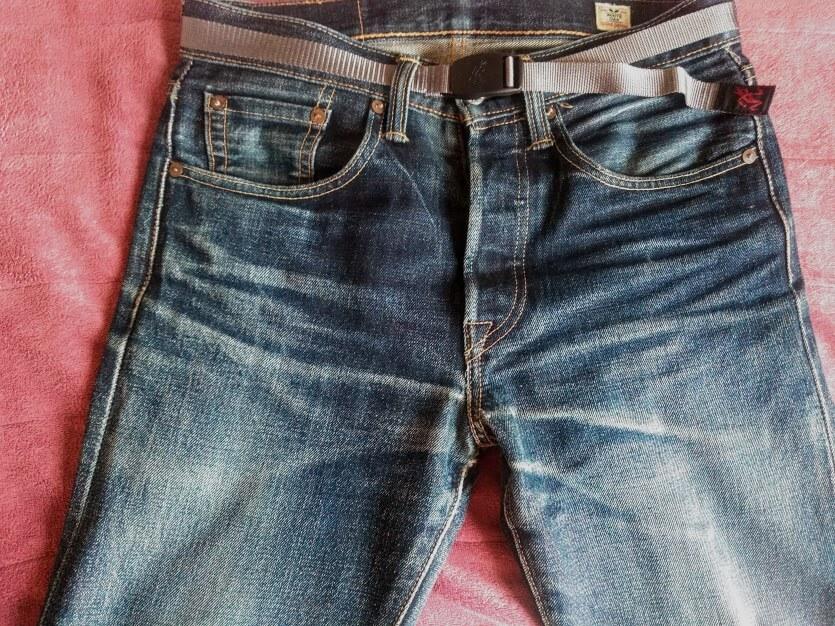 2年1ヶ月穿いたコーンデニムの501CTのフロント部