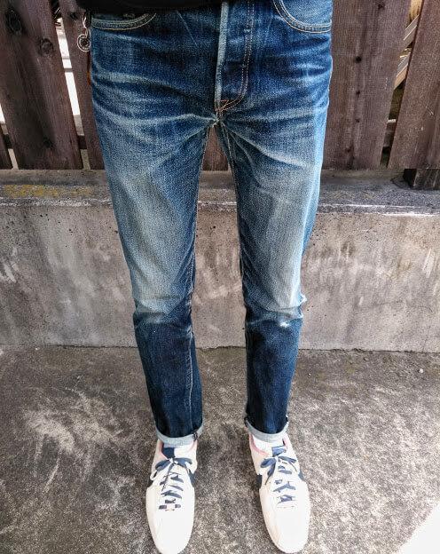 3年弱穿いたコーンデニムの501CT着用イメージ