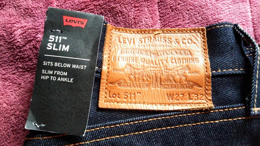 Levi's 511 made in the usaの革パッチ