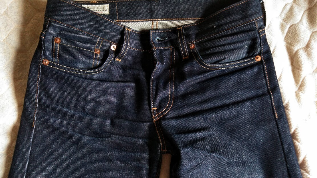 Levi's 511 made in the usaのヒゲ