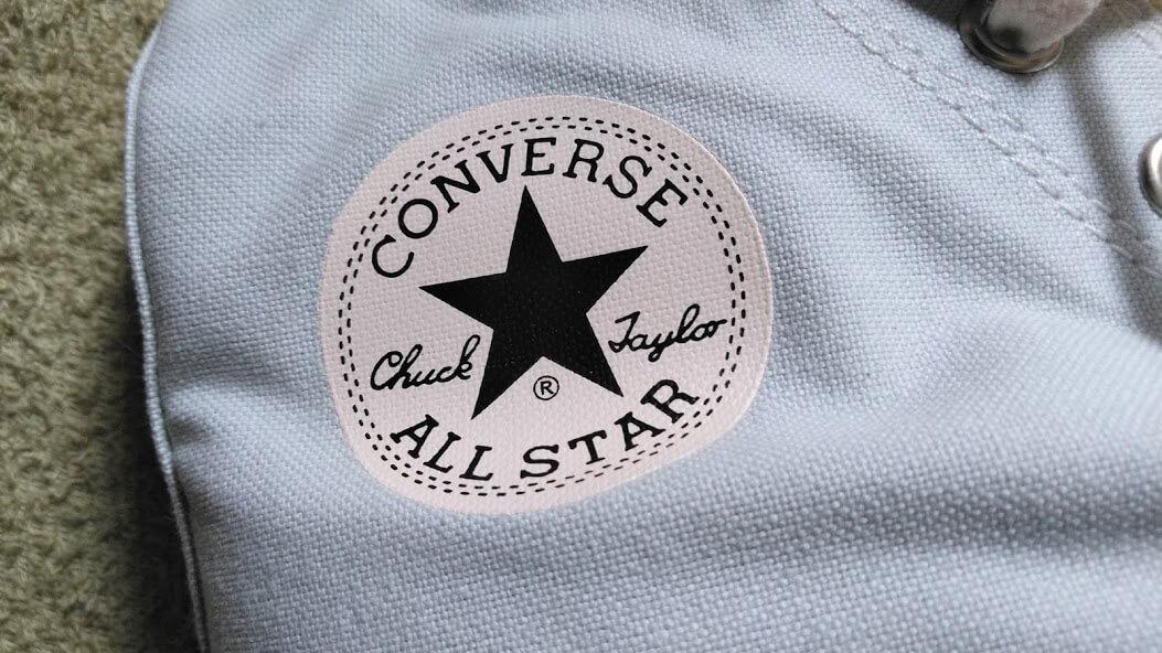 CONVERSE e.c.lab FOOD TEXITILE ALL STAR BLUE MALLOWのアンクルパッチ