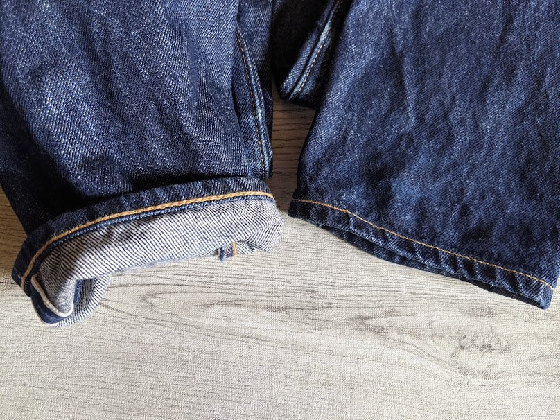 levis 511 made in the usaのセルビッジ