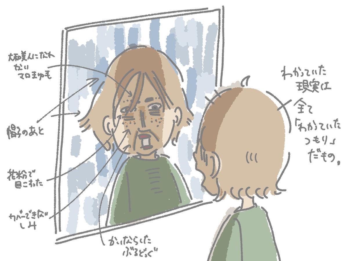 鏡に映ったBBA