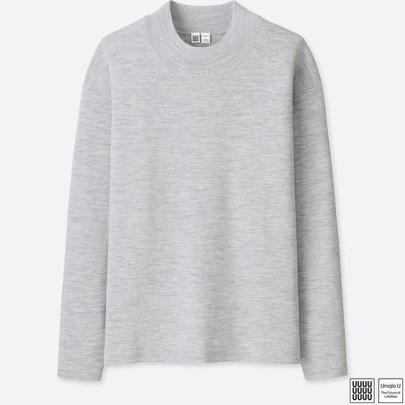 Uniqlo Uミラノリブモックネックセーター(長袖)