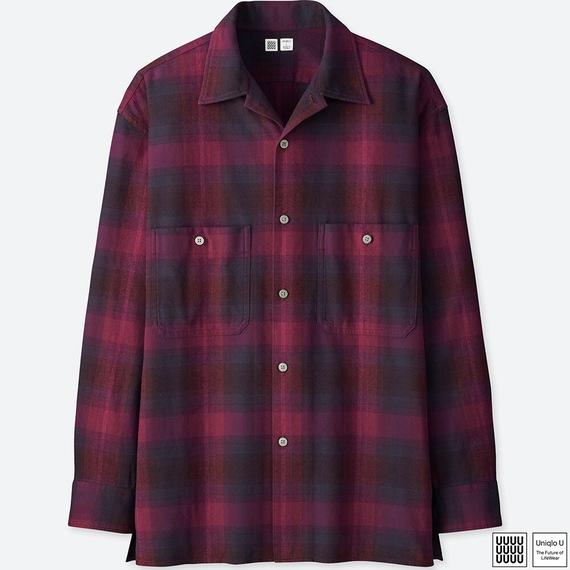 Uniqlo Uオープンカラーフランネルシャツ(長袖)