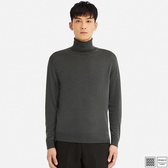 Uniqlo Uエクストラファインメリノタートルネックセーター(長袖)