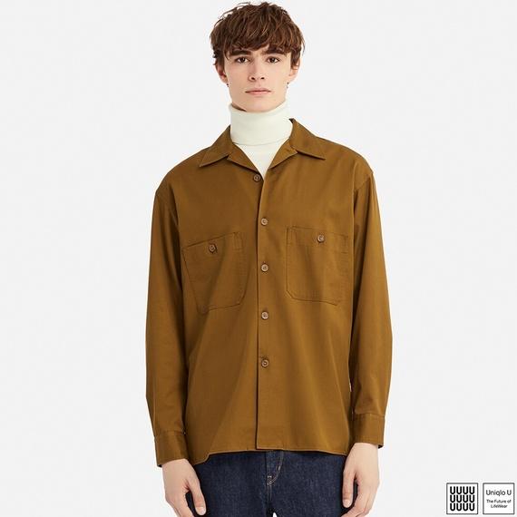 Uniqlo Uオープンカラーシャツ(長袖)