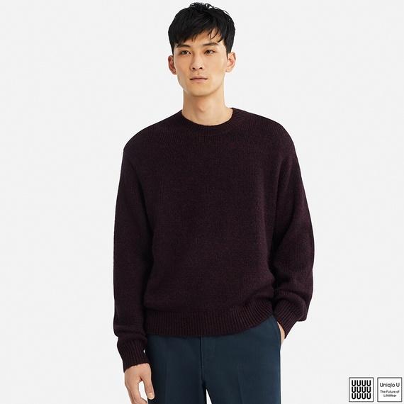 メランジクルーネックセーター(長袖)