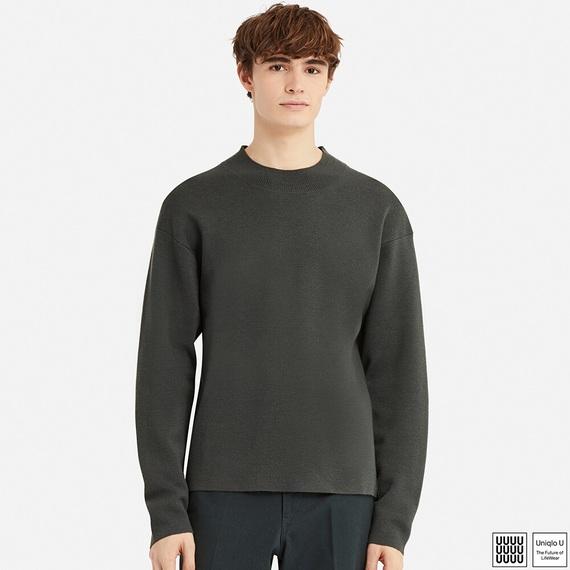 ミラノリブモックネックセーター(長袖)