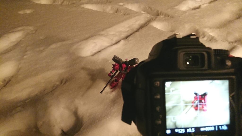 氷点下で一眼レフガンプラ撮影