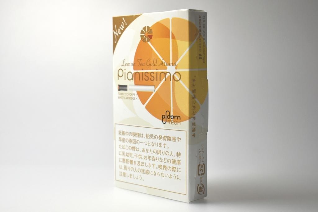 プルームテック専用Pianissimo Lemon Tea Golg Aroma(ピアニッシモレモンティーゴールドアロマ)
