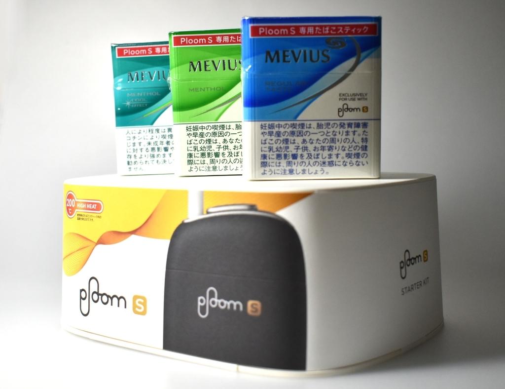 プルームSの全種類タバコスティックと本体のが画像