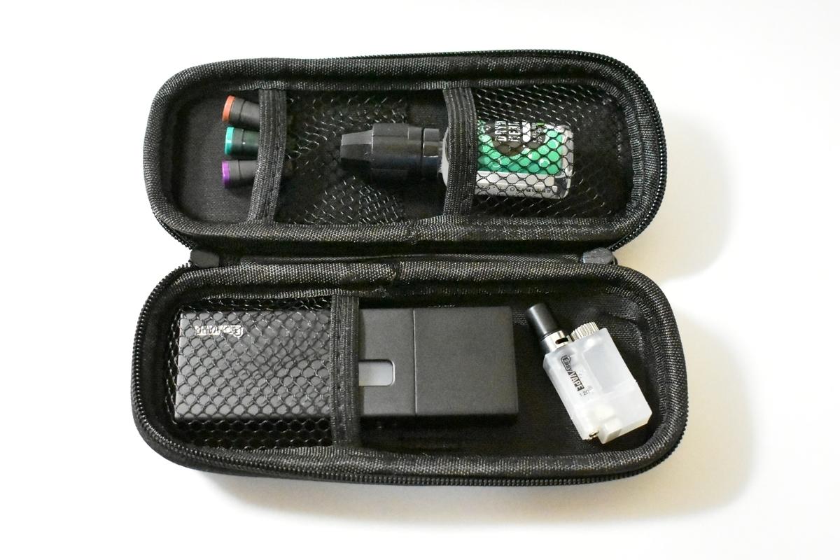 ベプログオリジナルポーチにターレスと使用済タバコカプセル3種類とリキッド