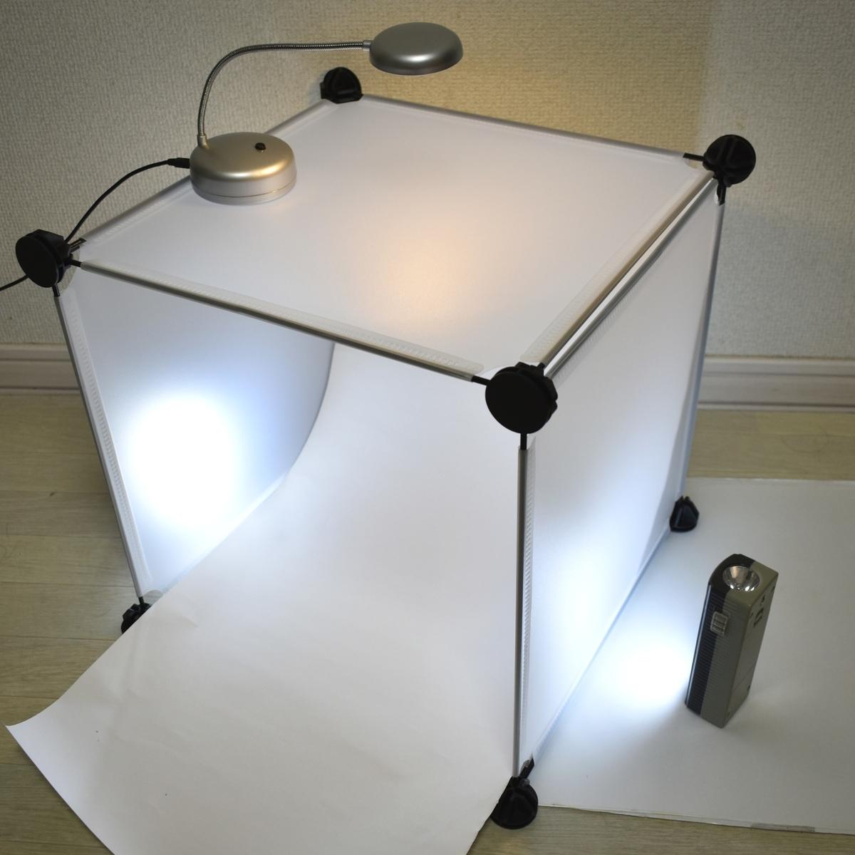 ダイソーで作った撮影ボックス照明つき