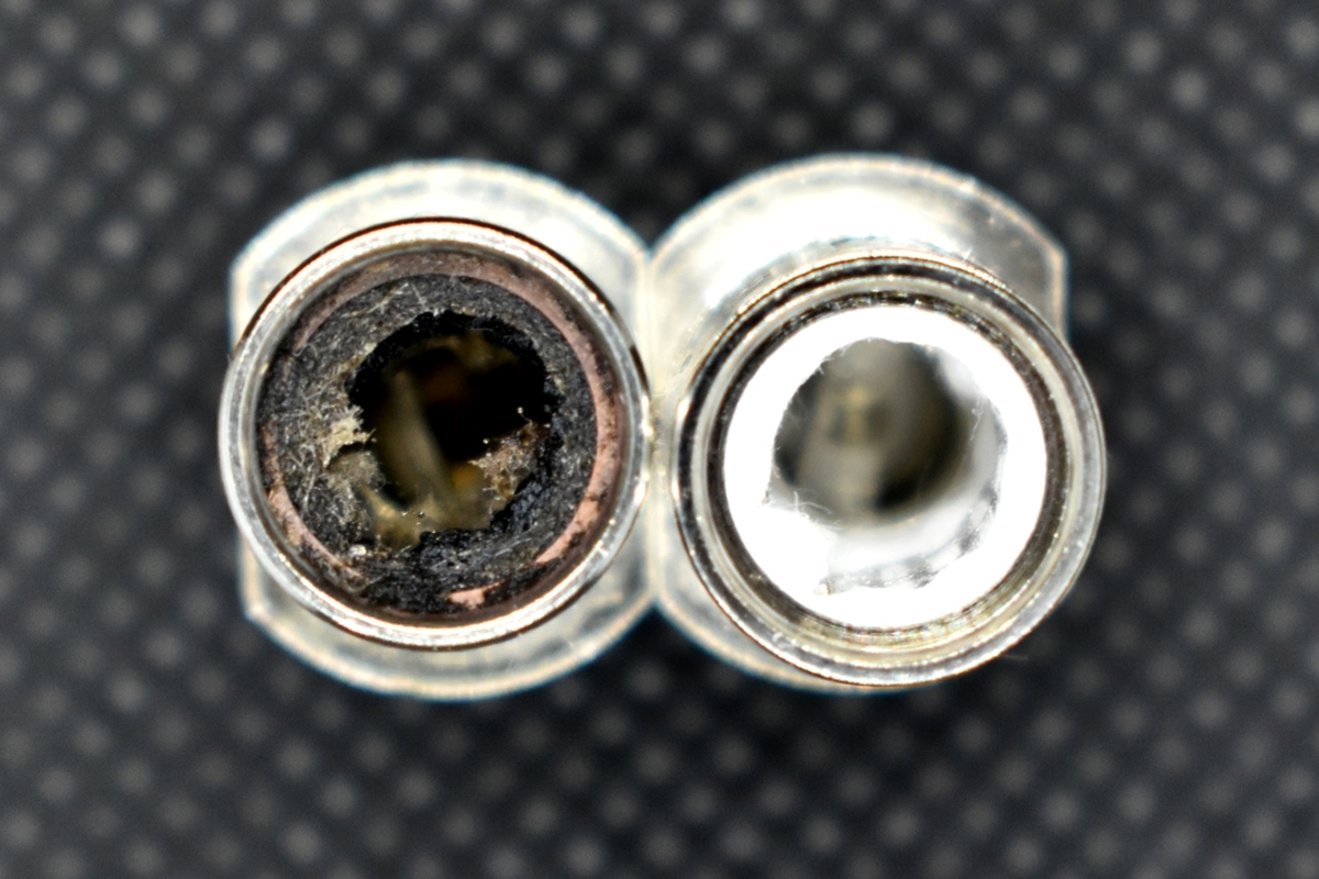 iSub-B Tankのコイルの未使用と使用済比較画像
