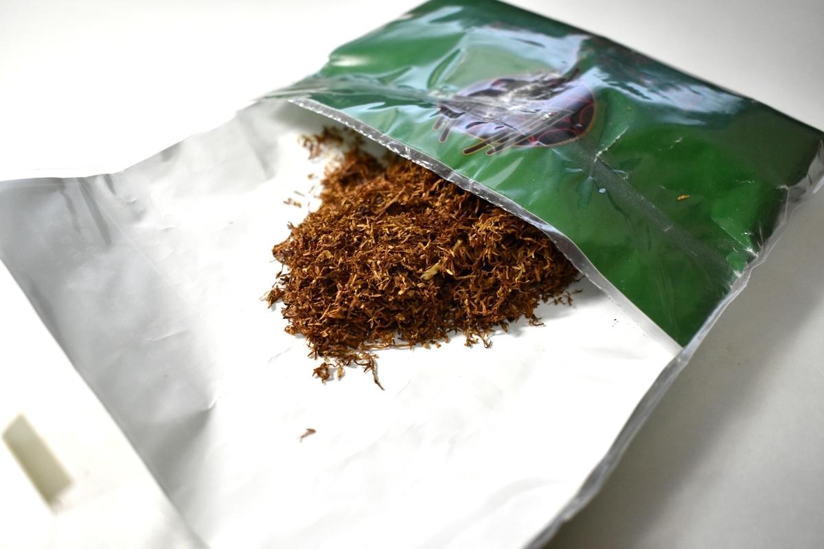 ブラックスパイダーシャグジンジャーエールのたばこ葉