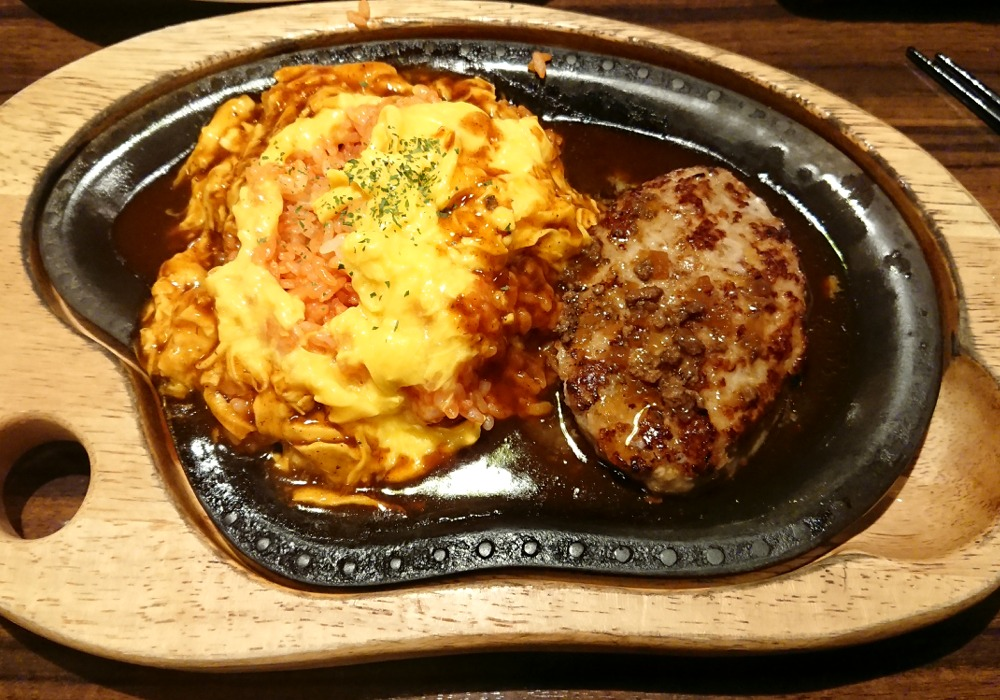 びっくりドンキー『オムライス&ハンバーグステーキ』の画像