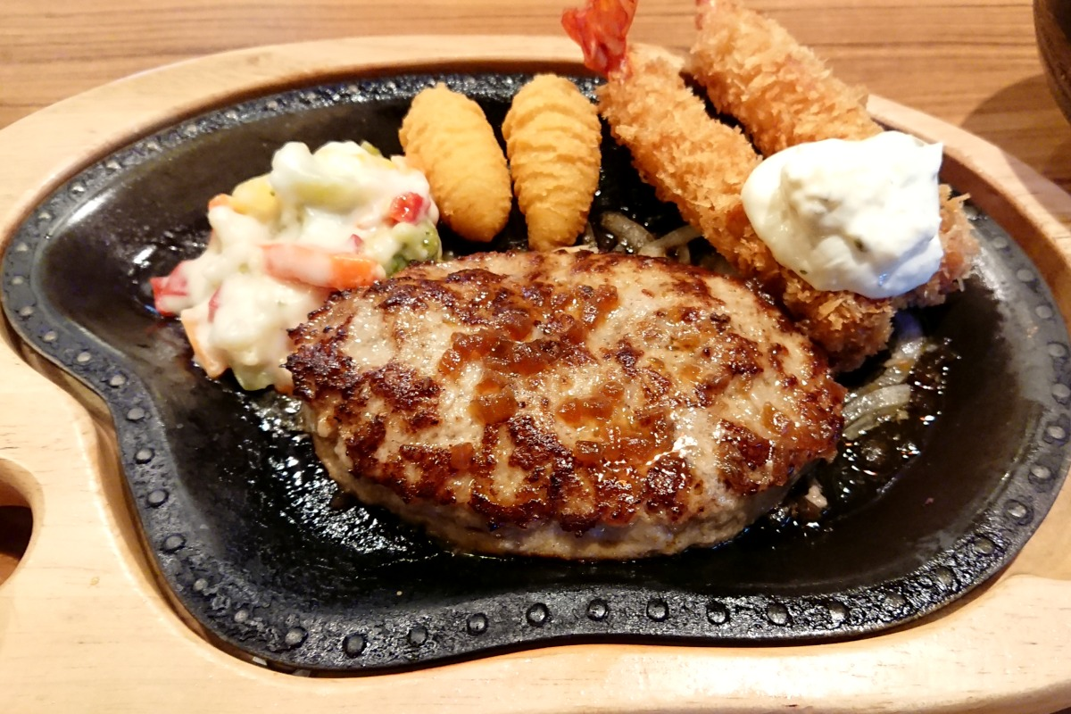 びっくりドンキー エビフライ&ハンバーグステーキ
