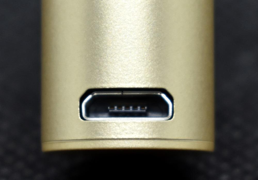 プルームテックプラス・シャンパンゴールド,USBポート画像