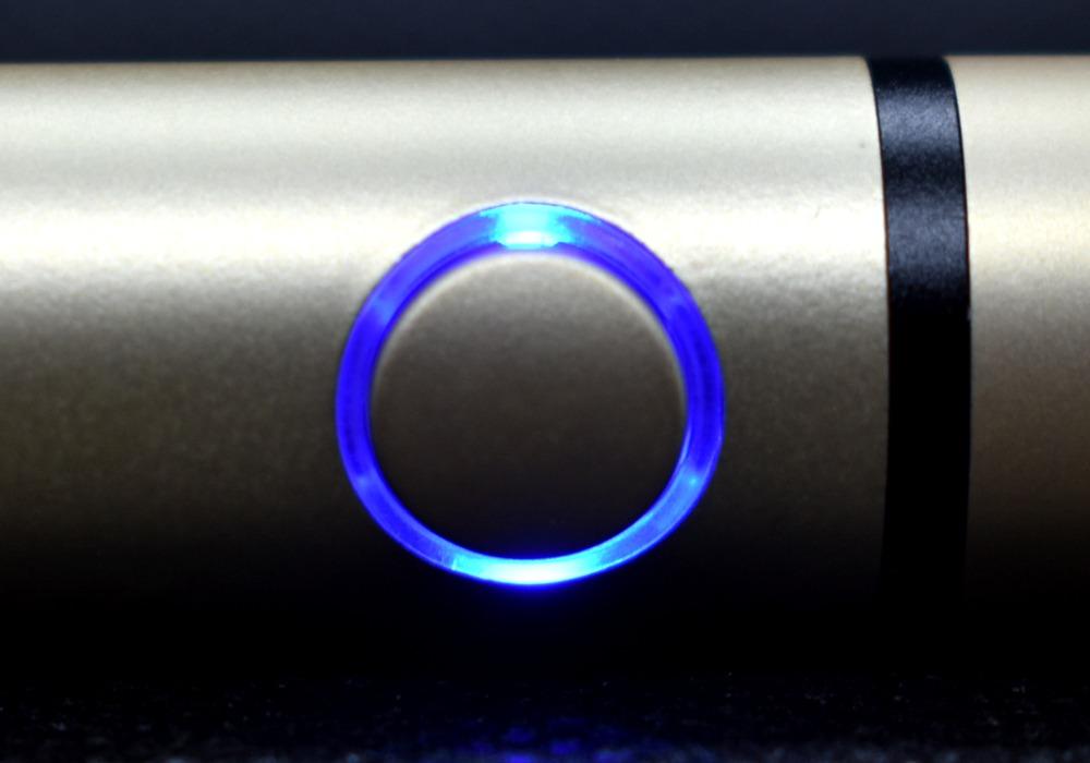 プルームテックプラス・シャンパンゴールド,ボタン,LED画像