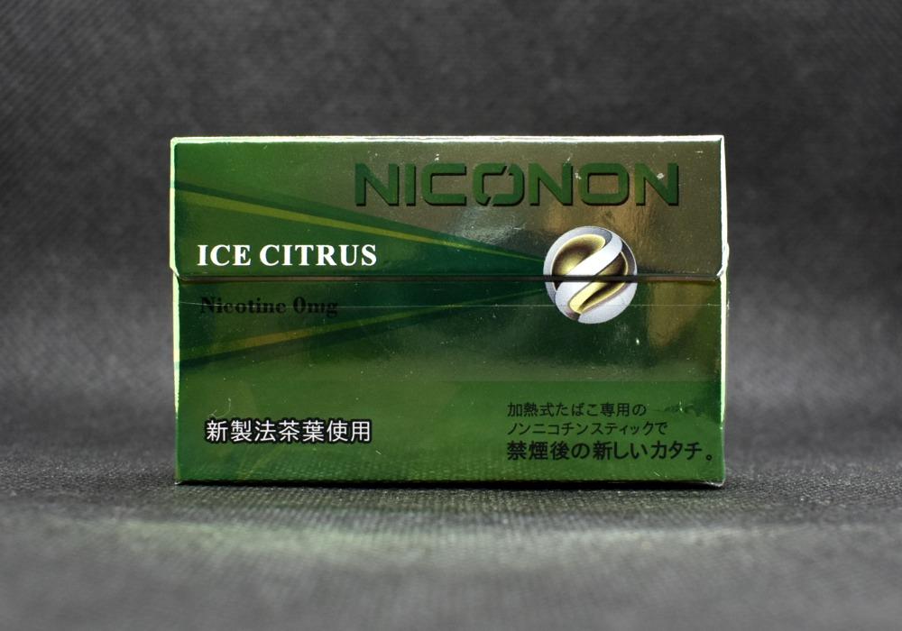 NICONONICE CITRUS,ニコノン アイスシトラス,ノンチコチン,茶葉スティック