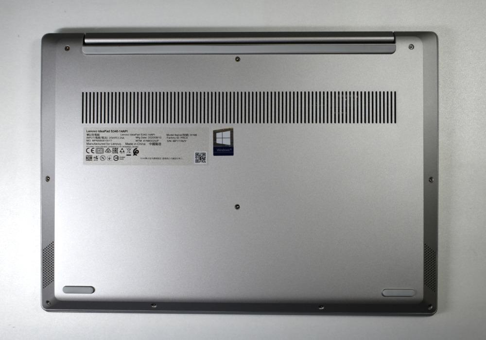 Lenovo Ideapad S340,背面