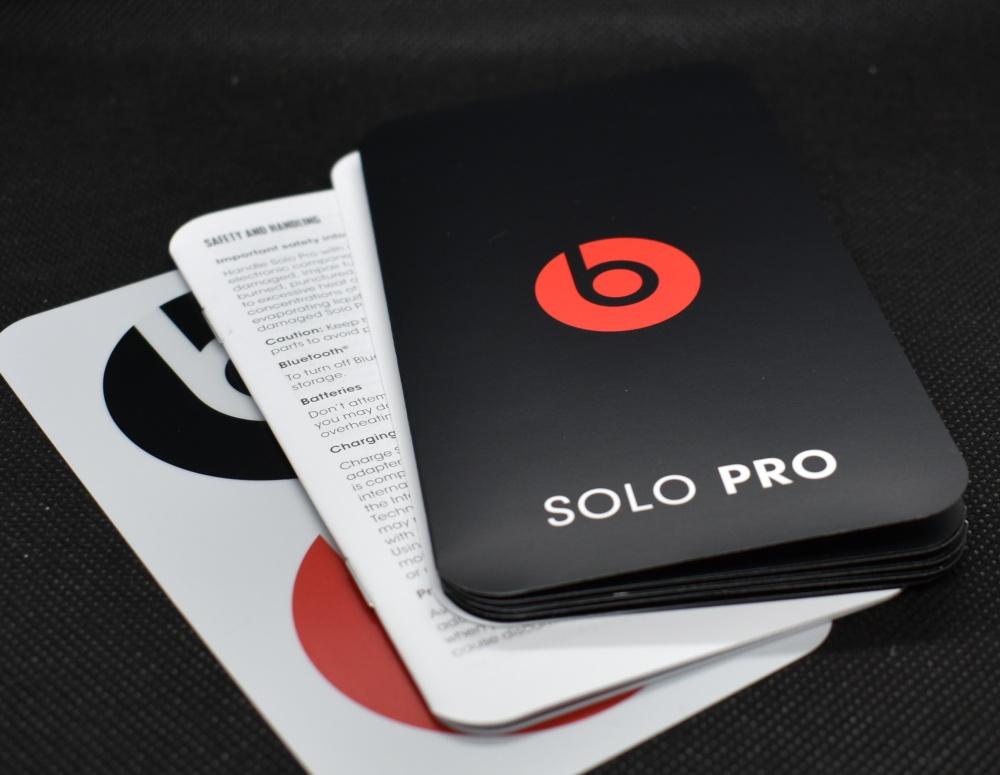 Beats,Solo Pro,ヘッドホン,説明書