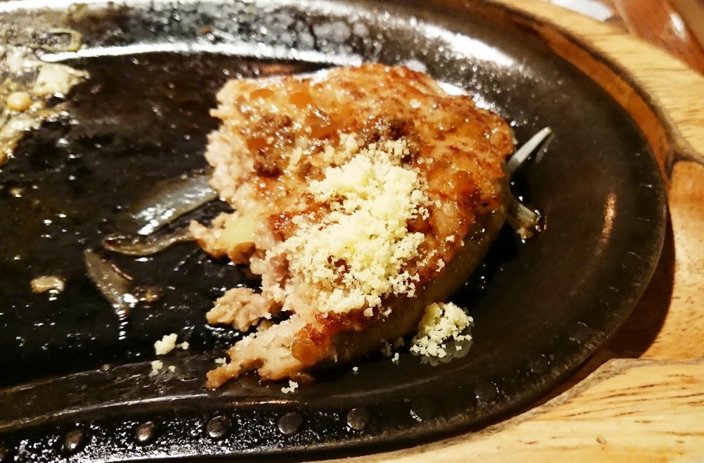 びっくりドンキー,レギュラーバーグステーキ,粉チーズ