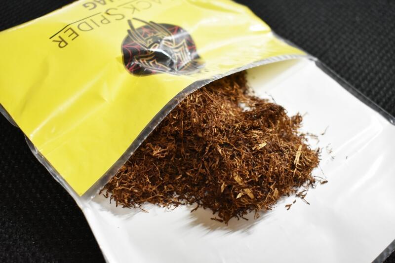 ブラックスパイダーレモンティー,たばこ葉