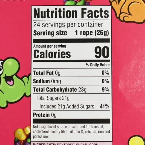 ナーズロープ・レインボー,原材料名,栄養成分表示